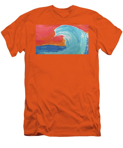 Gnarly Wave  Men's T-Shirt (Slim Fit) by Don Koester