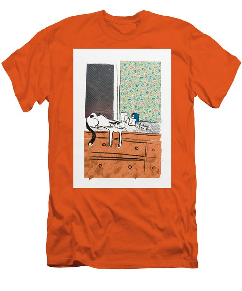 Go Ahead I Dare Ya. Men's T-Shirt (Slim Fit) by Leela Payne