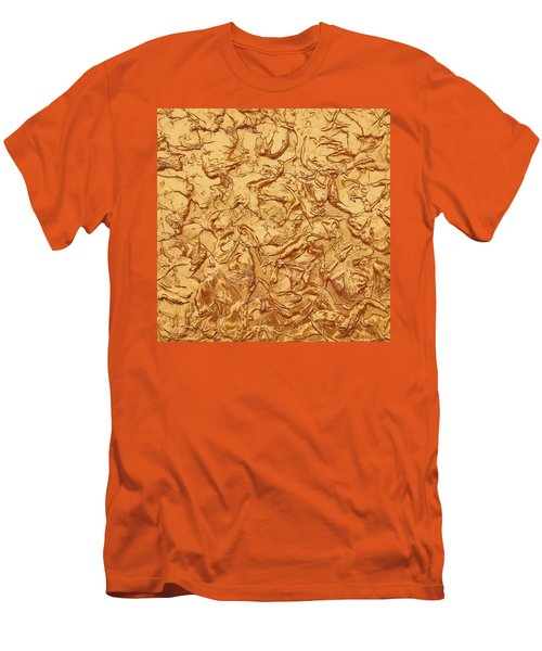 Gold Waves Men's T-Shirt (Athletic Fit)