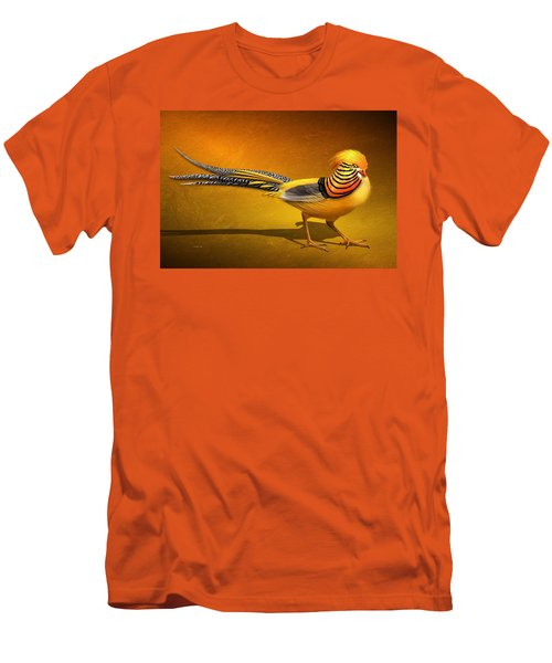 Golden Chinese Pheasant Men's T-Shirt (Athletic Fit)