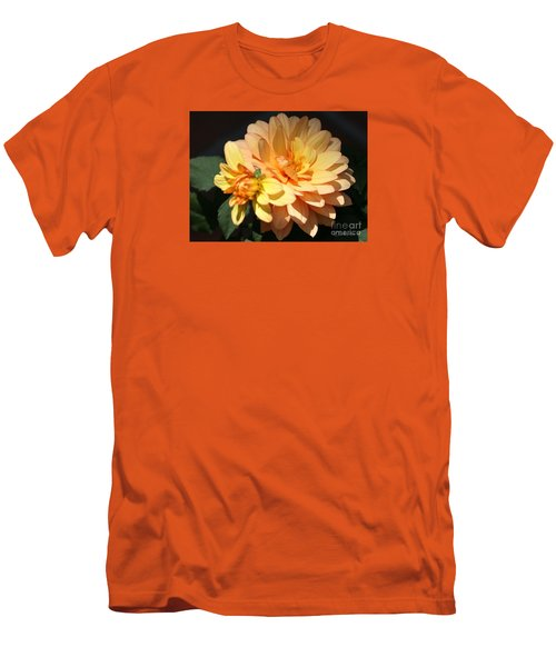 Golden Dahlia With Bud Men's T-Shirt (Athletic Fit)