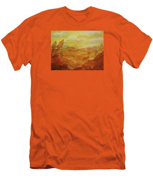 Golden Dawn Men's T-Shirt (Slim Fit) by Ellen Levinson