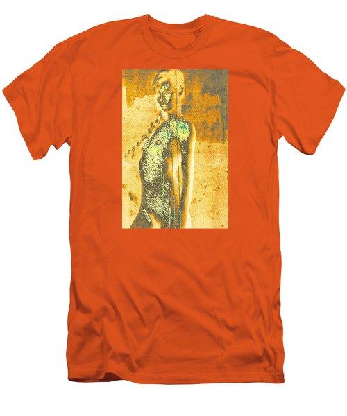 Golden Graffiti Men's T-Shirt (Slim Fit) by Andrea Barbieri