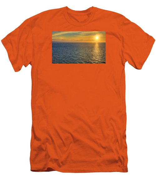 Golden Hour At Sea Men's T-Shirt (Slim Fit) by Lewis Mann