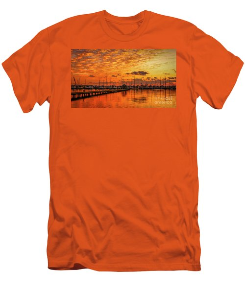 Golden Orange Sunrise Men's T-Shirt (Athletic Fit)