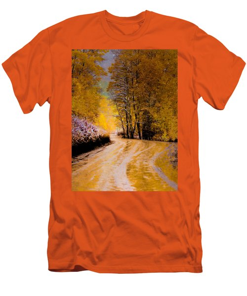 Men's T-Shirt (Slim Fit) featuring the photograph Golden Road by Kristal Kraft