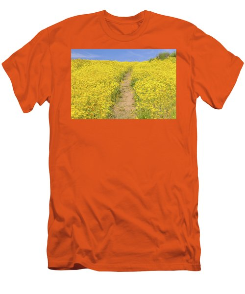 Men's T-Shirt (Slim Fit) featuring the photograph Golden Trail by Marc Crumpler
