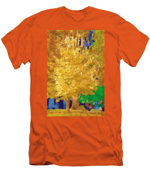 Men's T-Shirt (Slim Fit) featuring the photograph Golden Tree by Donna Bentley