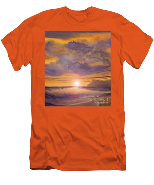Golden Wave Men's T-Shirt (Athletic Fit)