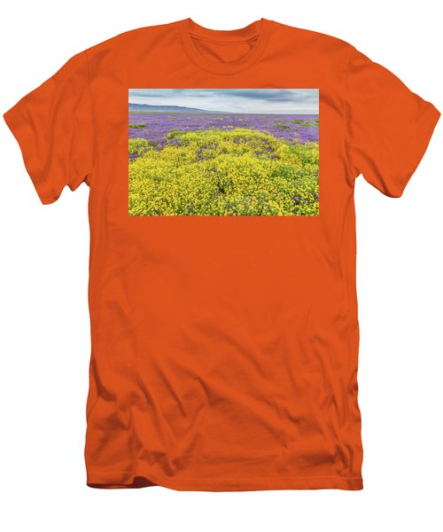 Men's T-Shirt (Slim Fit) featuring the photograph Goldfield And Phacelia by Marc Crumpler