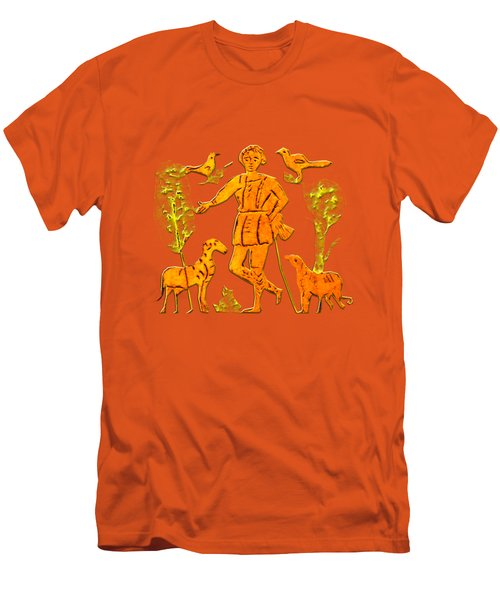 Men's T-Shirt (Slim Fit) featuring the digital art Good Shepherd by Asok Mukhopadhyay
