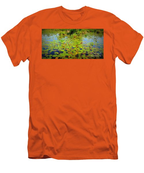 Gorham Pond Lily Pads Men's T-Shirt (Slim Fit) by Susan Lafleur