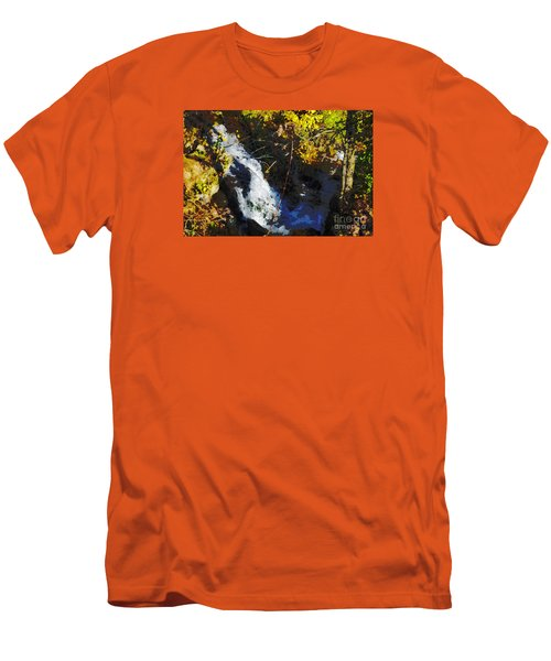 Men's T-Shirt (Slim Fit) featuring the digital art Governor Dodge State Park by David Blank