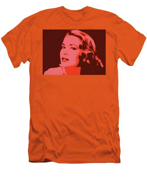 Grace Kelly Pop Art Men's T-Shirt (Slim Fit) by Dan Sproul