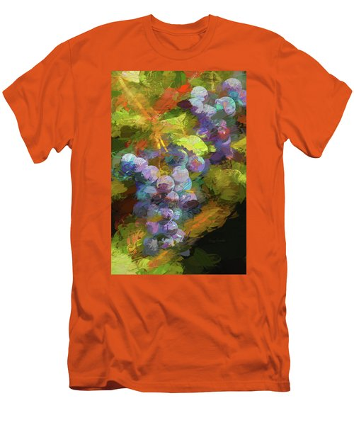 Grapes In Abstract Men's T-Shirt (Slim Fit) by Penny Lisowski