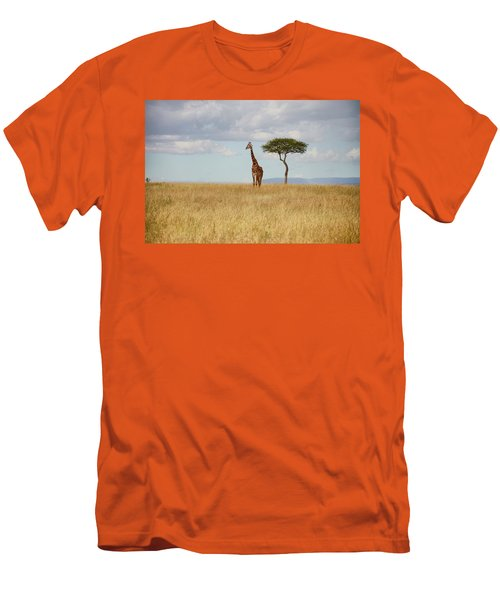 Grazing Giraffe Men's T-Shirt (Athletic Fit)