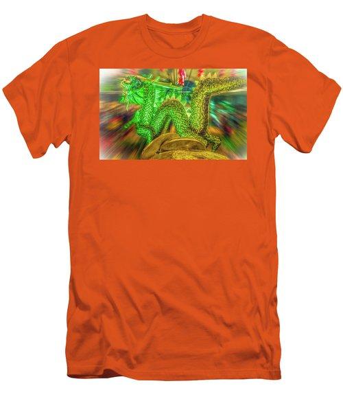 Green Dragon Men's T-Shirt (Slim Fit) by Mark Dunton