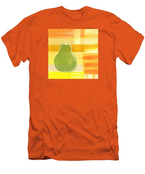 Green Pear- Art By Linda Woods Men's T-Shirt (Slim Fit) by Linda Woods