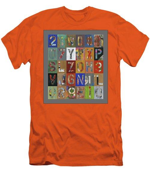 Grid Letters Men's T-Shirt (Athletic Fit)