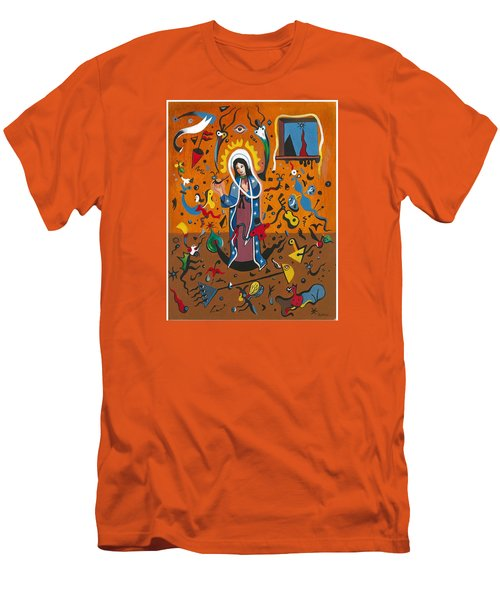 Guadalupe Visits Miro Men's T-Shirt (Slim Fit) by James Roderick