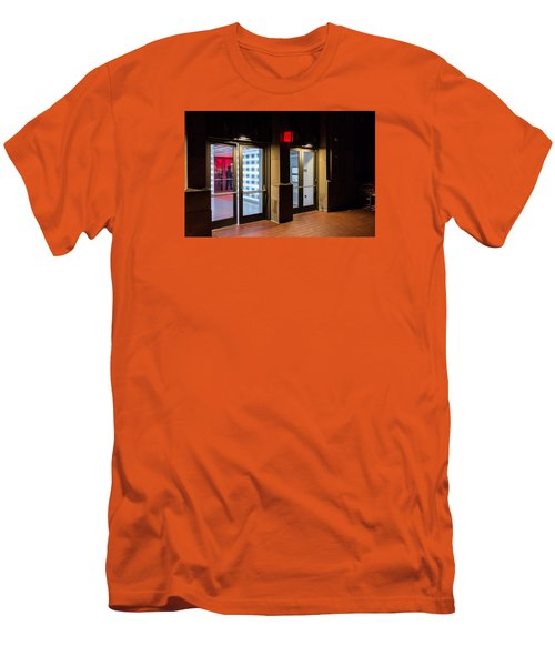 Men's T-Shirt (Slim Fit) featuring the photograph Guarding The Door by M G Whittingham