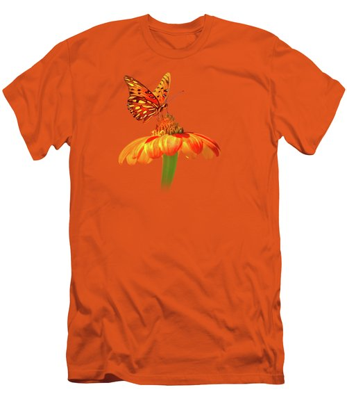 Gulf Fritillary Landing Men's T-Shirt (Slim Fit) by Mark Andrew Thomas