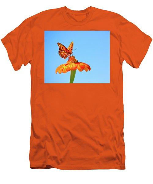 Gulf Fritillary Landing Men's T-Shirt (Athletic Fit)