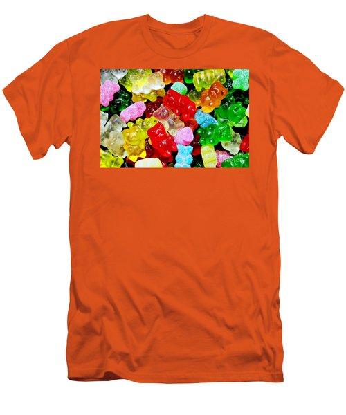 Gummy Bears Men's T-Shirt (Slim Fit) by Vivian Krug Cotton