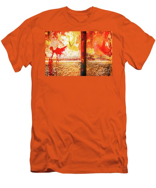 Men's T-Shirt (Athletic Fit) featuring the photograph Gutter And Decayed Wall by Silvia Ganora