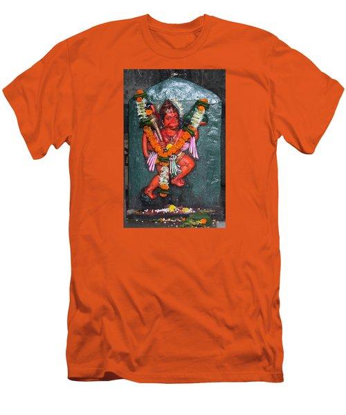 Hanuman Ji, Somewhere Near Ganeshpuri Men's T-Shirt (Slim Fit) by Jennifer Mazzucco