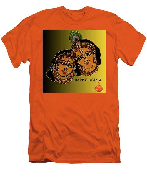 Happy Diwali Men's T-Shirt (Slim Fit) by Latha Gokuldas Panicker
