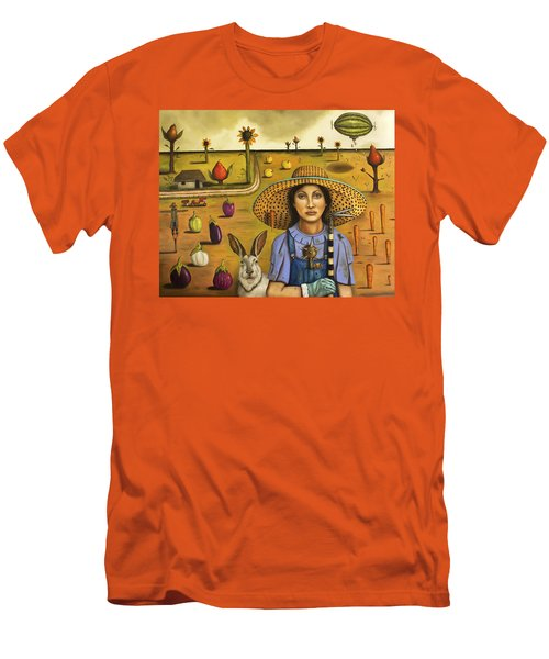 Harvey And The Eccentric Farmer Men's T-Shirt (Slim Fit) by Leah Saulnier The Painting Maniac
