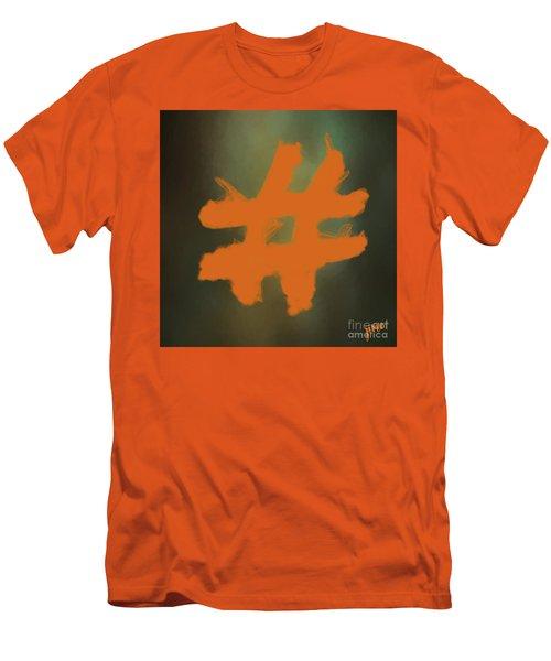 Men's T-Shirt (Slim Fit) featuring the digital art Hashtag by Jim  Hatch