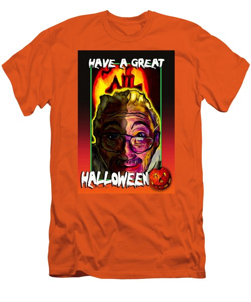 Men's T-Shirt (Slim Fit) featuring the painting Have A Great Halloween by Ted Azriel