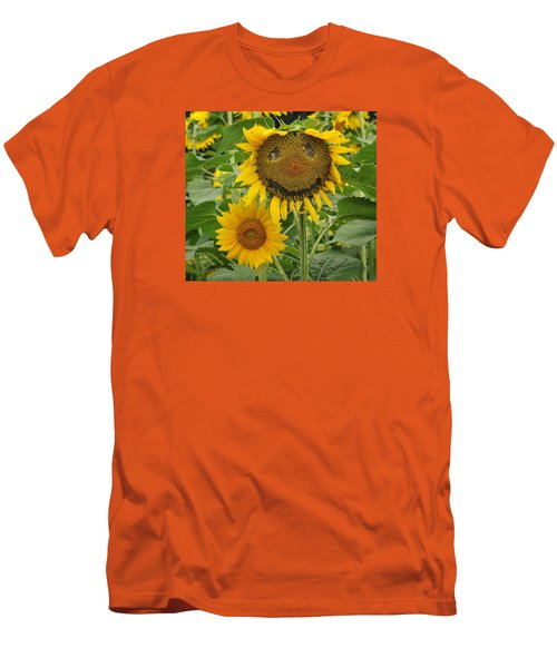 Have A Groovy Day Said The Hippie Flower Men's T-Shirt (Slim Fit) by Joanne Brown