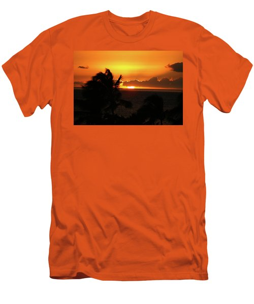 Men's T-Shirt (Slim Fit) featuring the photograph Hawaiian Sunset by Anthony Jones