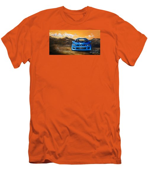 Men's T-Shirt (Slim Fit) featuring the painting Hawkeye  by Chad Berglund