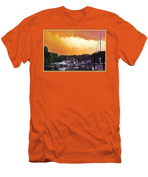 Men's T-Shirt (Slim Fit) featuring the photograph Head For Safety by Brian Wallace