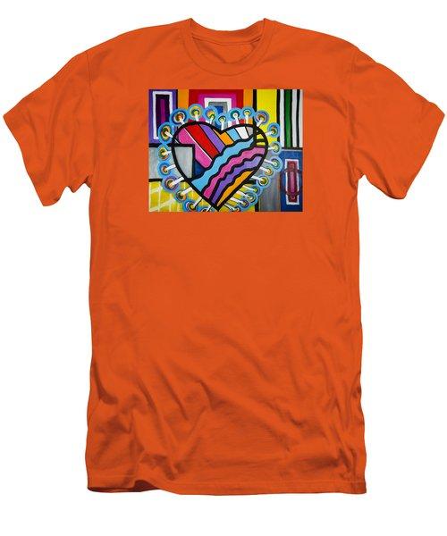 Heart Men's T-Shirt (Slim Fit) by Jose Rojas