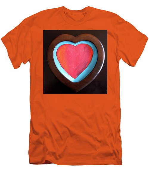 Hearts Afire Men's T-Shirt (Athletic Fit)