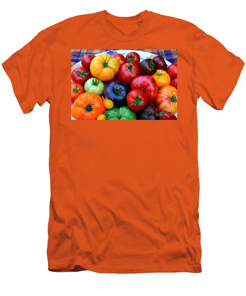 Heirloom Tomatoes Men's T-Shirt (Slim Fit) by Vivian Krug