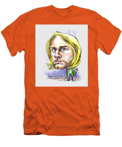 Men's T-Shirt (Slim Fit) featuring the drawing Hello Kurt by John Ashton Golden