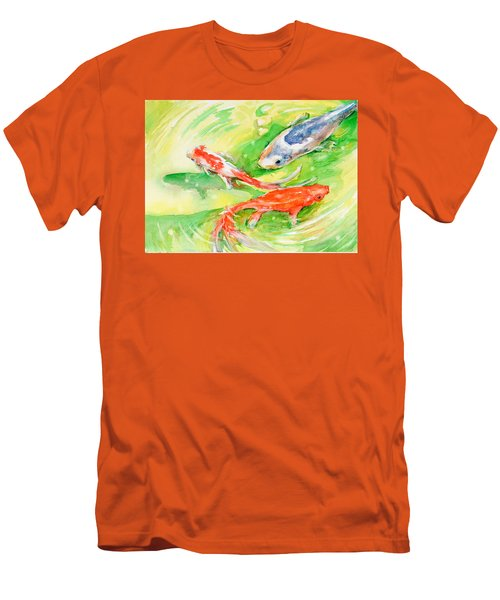 Here Comes Moby Men's T-Shirt (Slim Fit) by Judith Levins