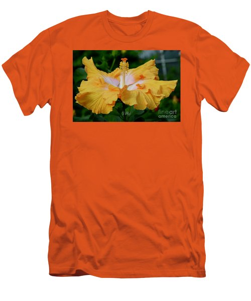 Hibiscus Golden Mist Men's T-Shirt (Athletic Fit)