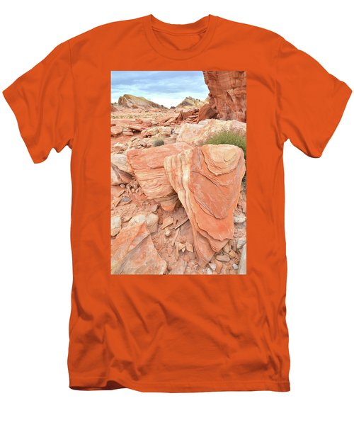 Men's T-Shirt (Slim Fit) featuring the photograph Hidden Cove In Valley Of Fire by Ray Mathis