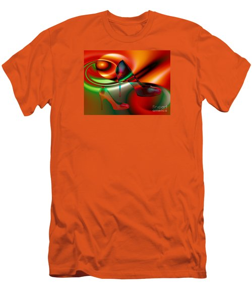 Highheels Red And Green Men's T-Shirt (Athletic Fit)