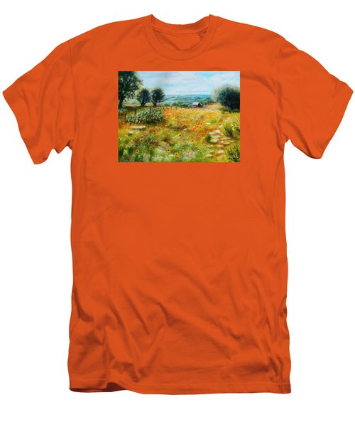 Hill Country Mile Men's T-Shirt (Slim Fit) by Patti Gordon
