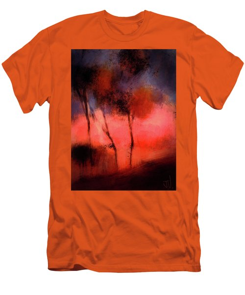 Men's T-Shirt (Athletic Fit) featuring the digital art Hillside Trees by Jim Vance