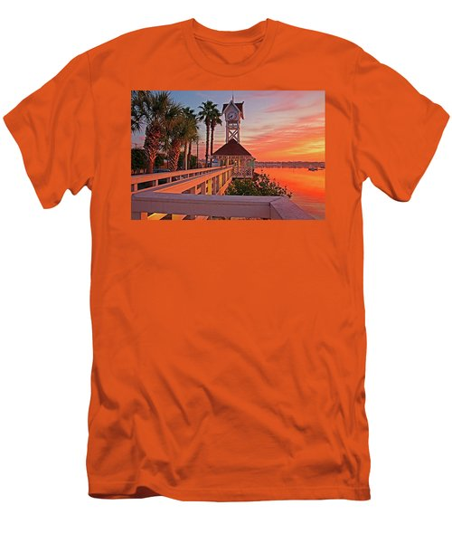 Historic Bridge Street Pier Sunrise Men's T-Shirt (Athletic Fit)