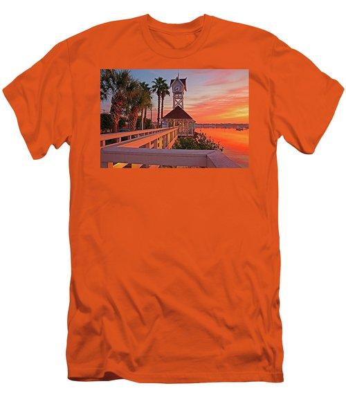 Historic Bridge Street Pier Sunrise Men's T-Shirt (Athletic Fit)